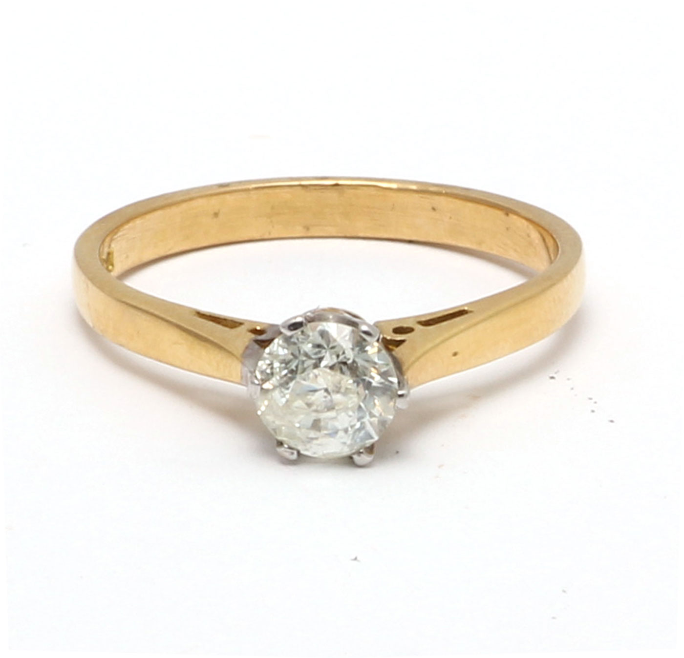 18ct Yellow Gold Diamond Engagement Ring 0.61 Carats - Image 5 of 6