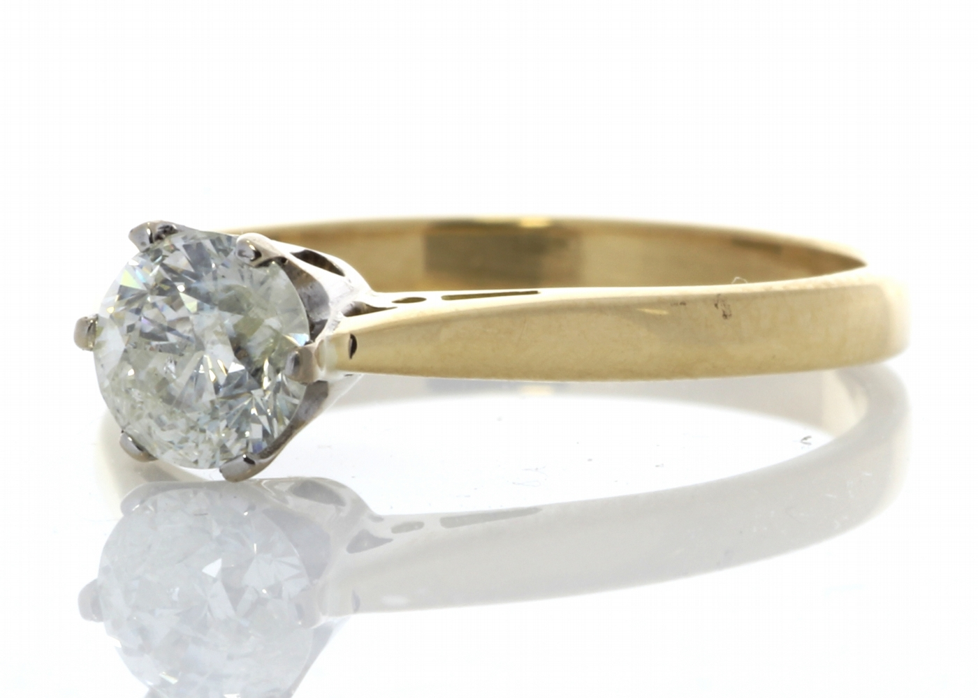 18ct Yellow Gold Diamond Engagement Ring 0.61 Carats - Image 2 of 6