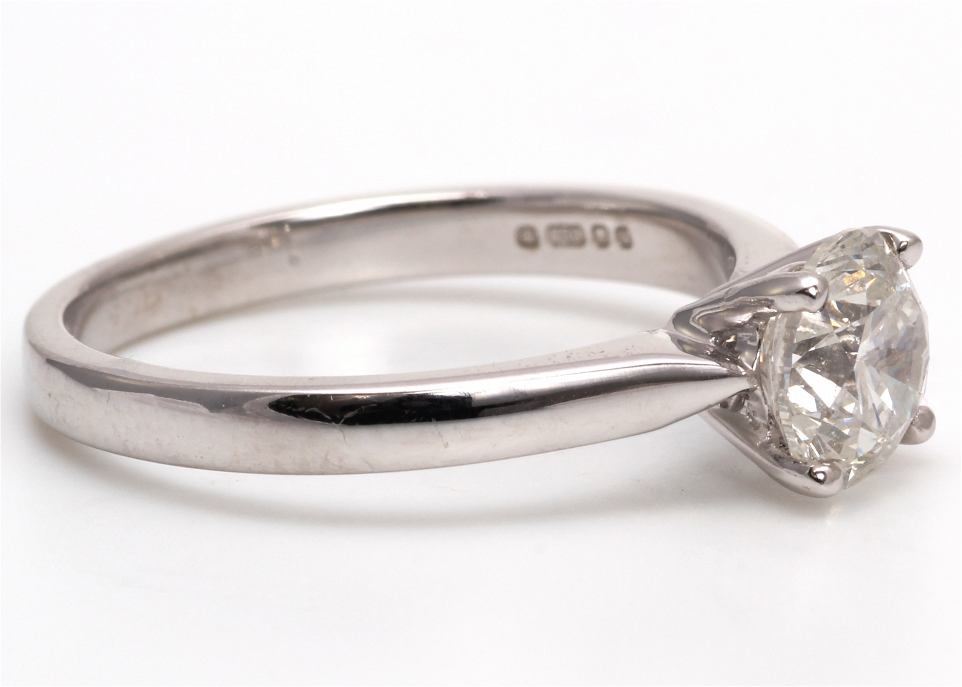 18ct White Gold Single Stone Diamond Ring 1.05 Carats - Image 4 of 4