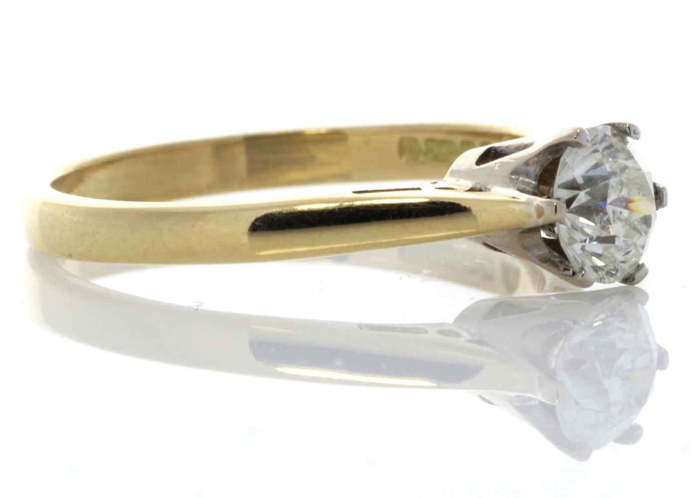 18ct Yellow Gold Diamond Engagement Ring 0.61 Carats - Image 4 of 6