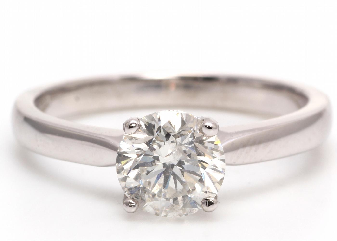 18ct White Gold Single Stone Diamond Ring 1.05 Carats