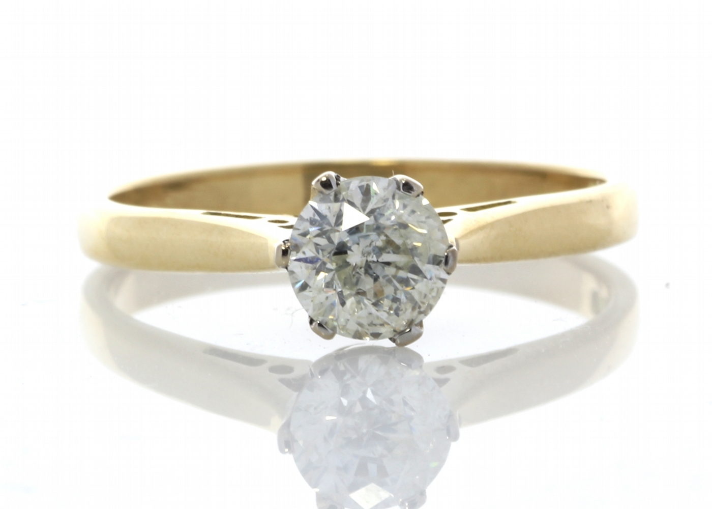 18ct Yellow Gold Diamond Engagement Ring 0.61 Carats