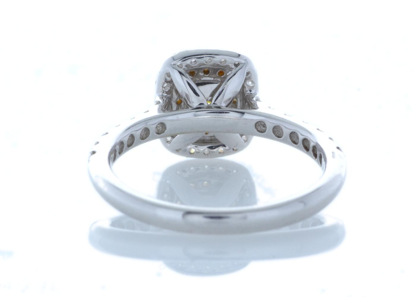 18ct White Gold Halo Set Ring 0.70 Carats - Image 3 of 5