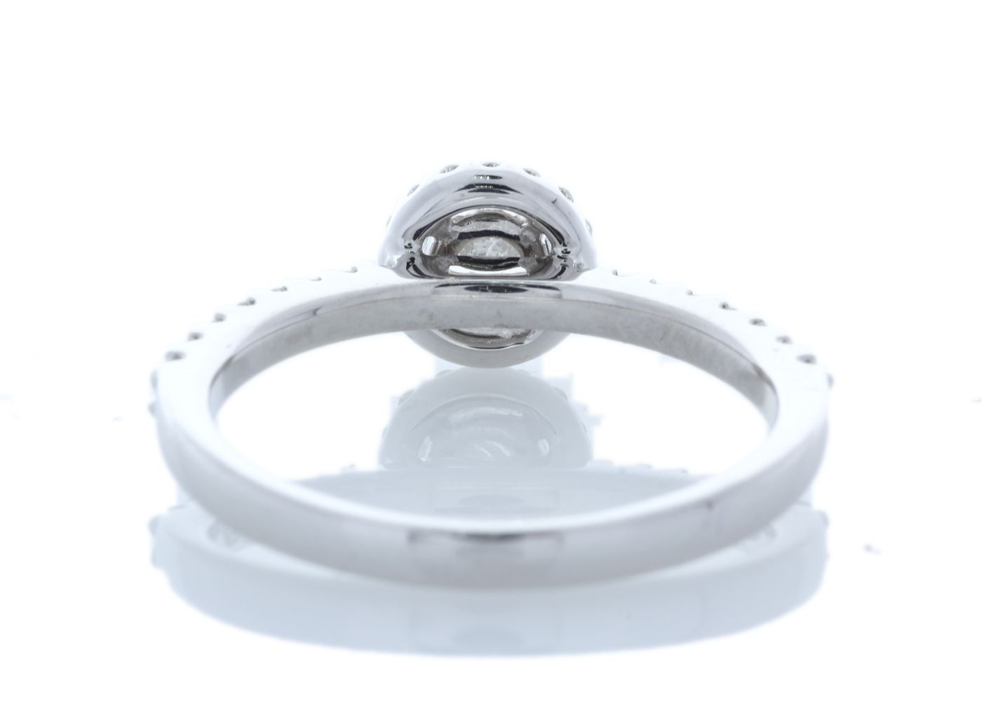 18ct White Gold Halo Set Ring 0.63 Carats - Image 3 of 5