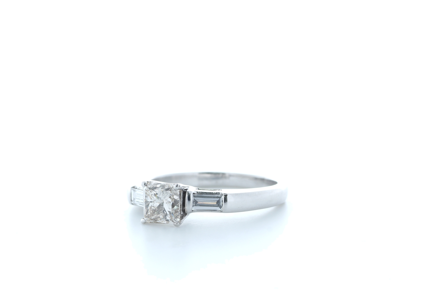 18ct White Gold Princess Cut Diamond Ring 1.20 (1.01) Carats - Image 2 of 5