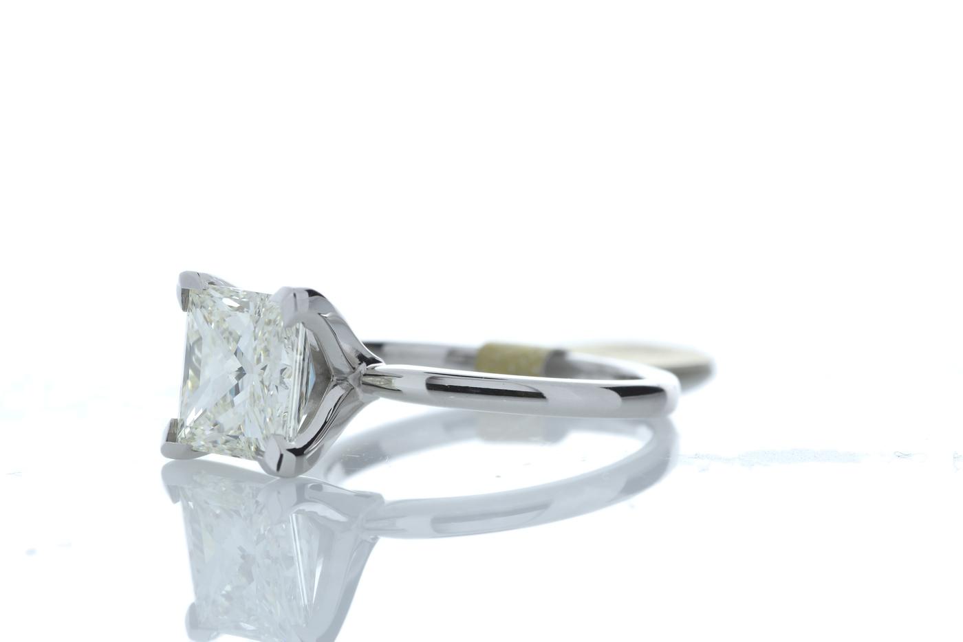 18ct White Gold Princess Cut Diamond Ring 3.09 Carats - Image 2 of 4