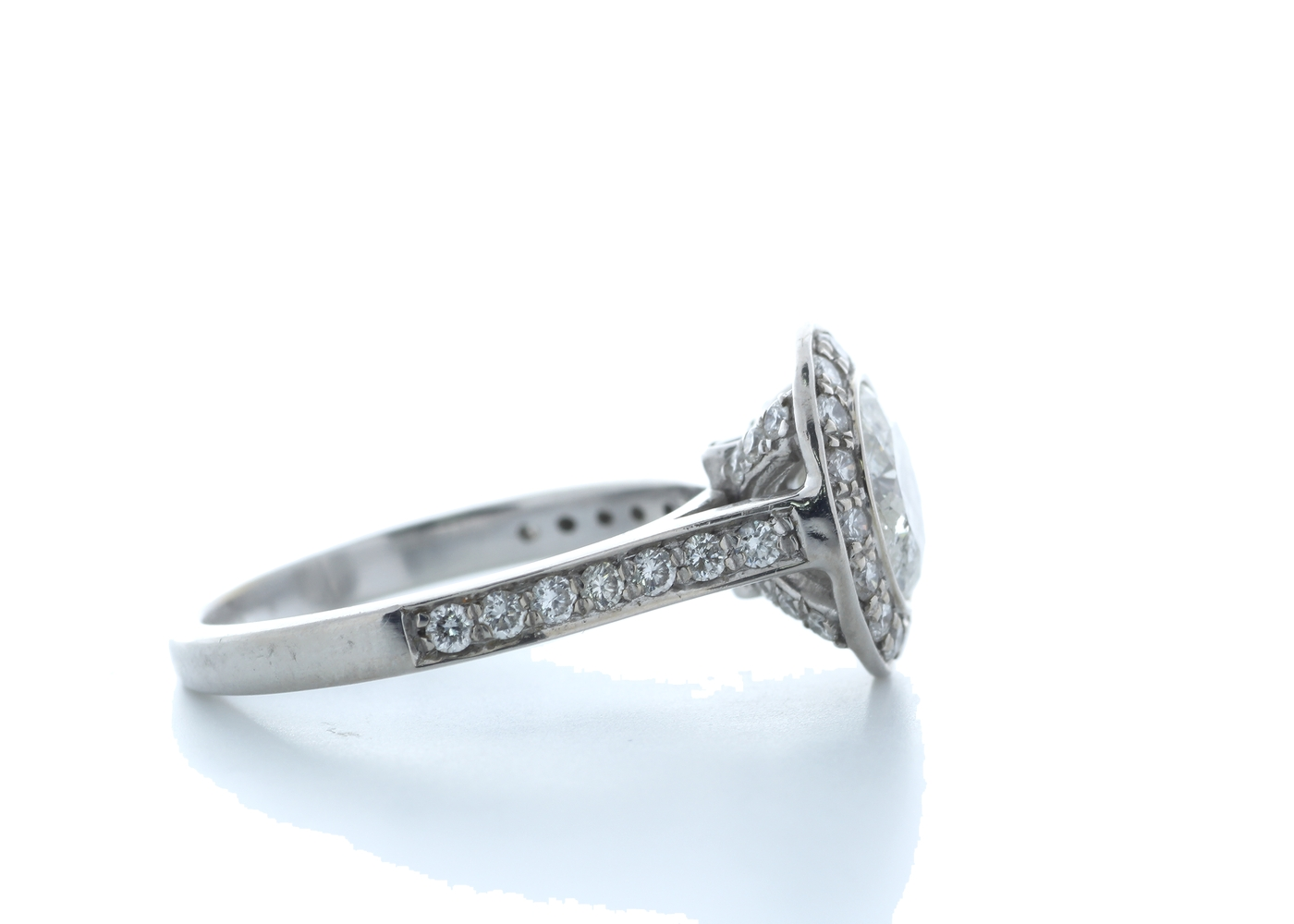 18ct White Gold Single Stone With Halo Setting Ring 2.00 (1.50) Carats - Image 4 of 5