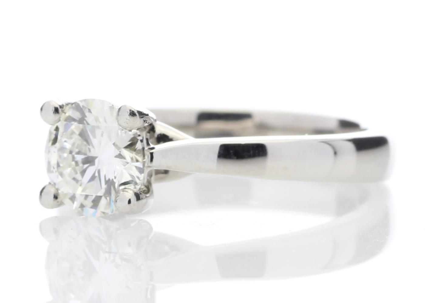 Platinum Single Stone Wire Set Diamond Ring 1.01 Carats - Image 2 of 5