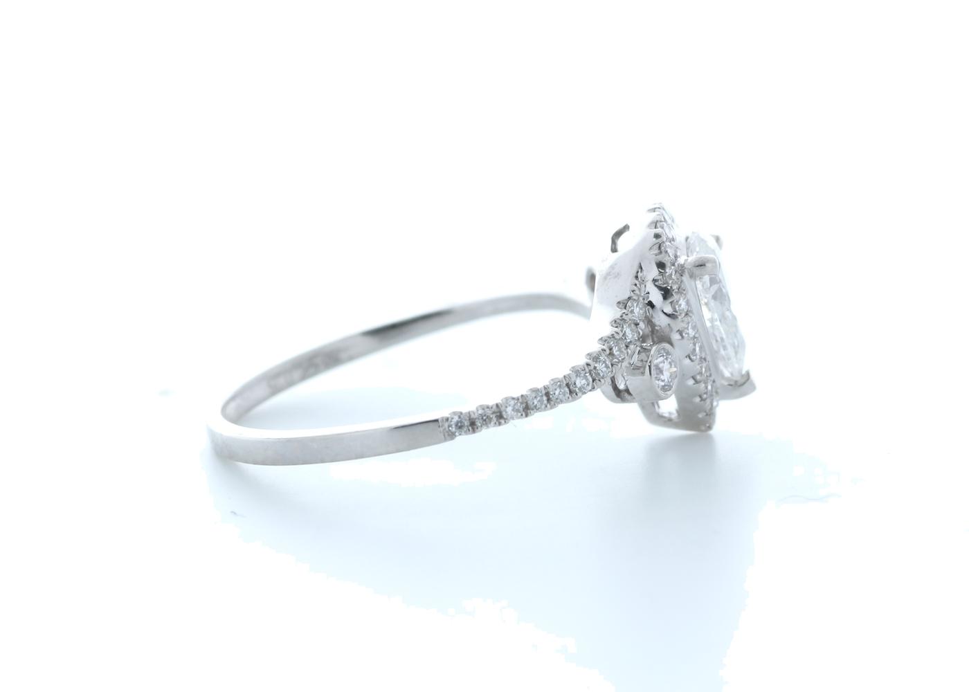 18ct White Gold Pear Shape Halo Diamond Ring 0.76 (0.51) Carats - Image 4 of 5