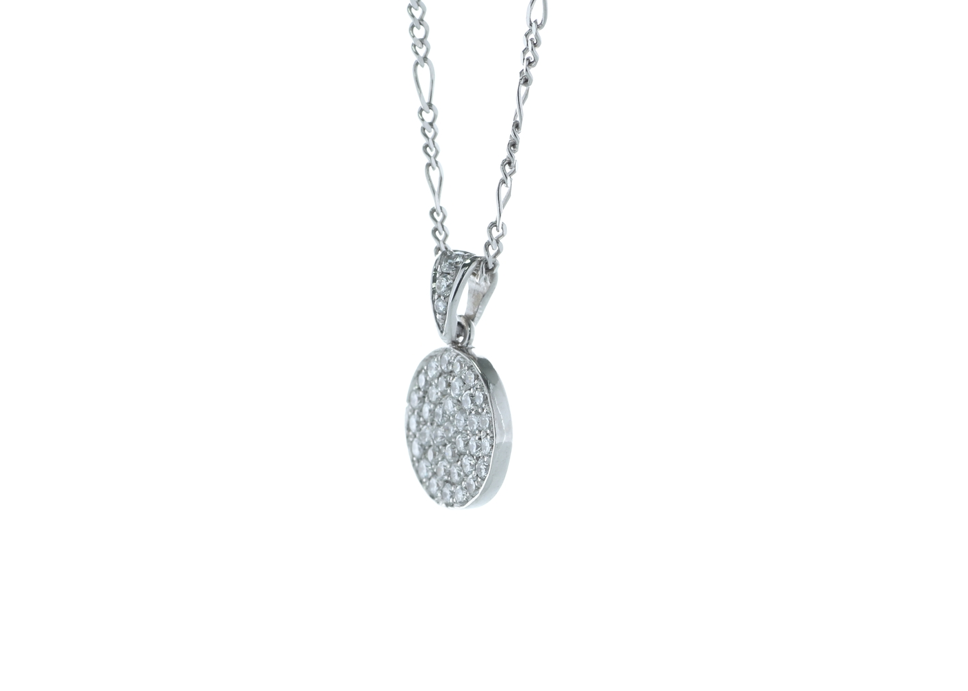 18ct White Gold Cluster Diamond Pendant 0.40 Carats - Image 2 of 4