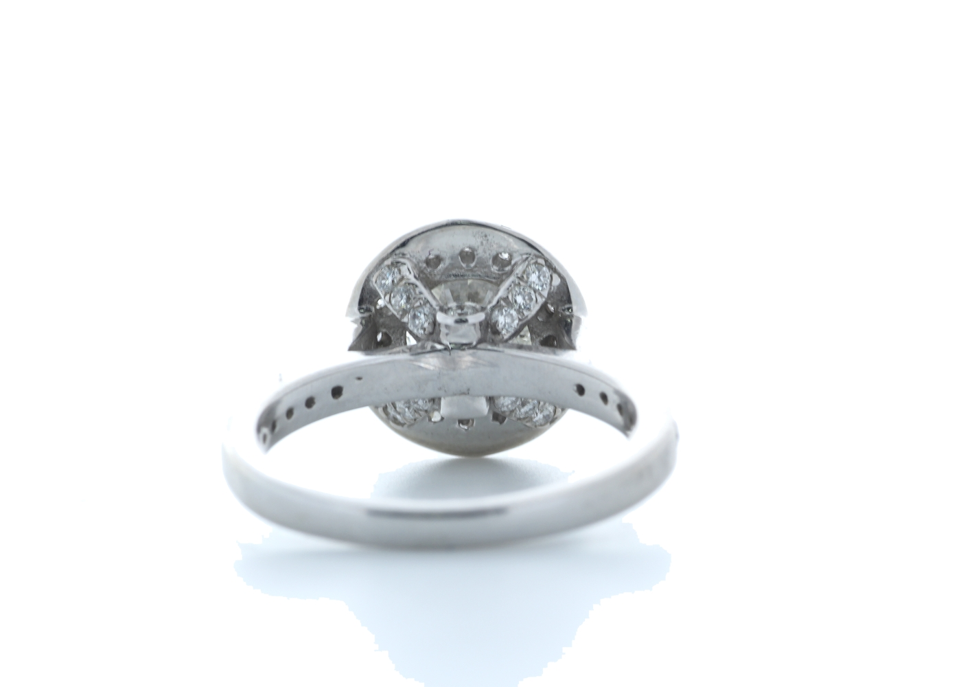 18ct White Gold Single Stone With Halo Setting Ring 2.00 (1.50) Carats - Image 3 of 5