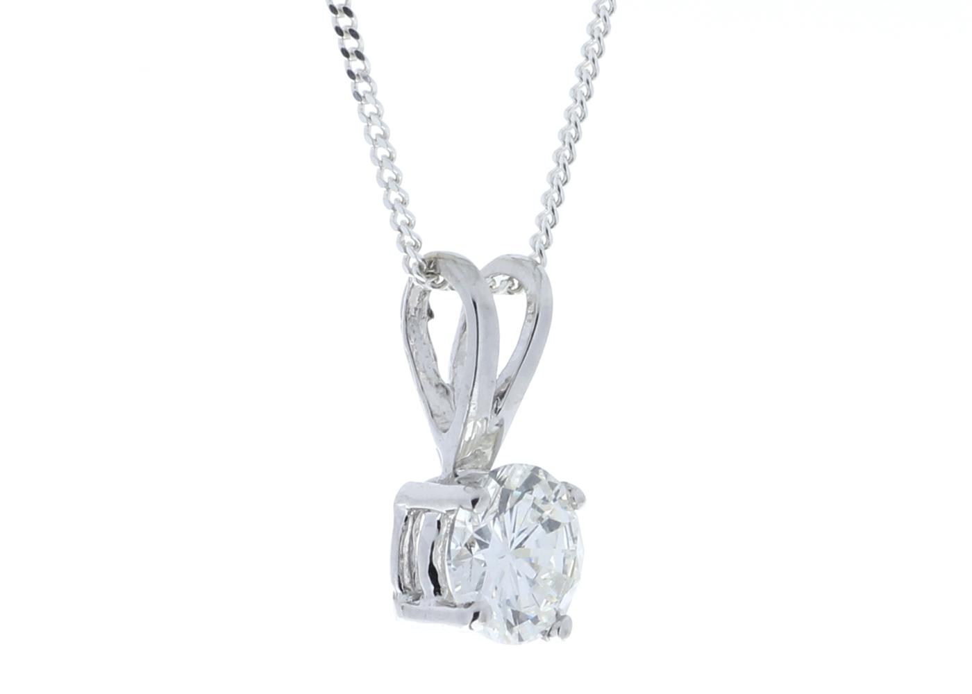 18ct Single Stone Claw Set Diamond Pendant 0.50 Carats - Image 2 of 4