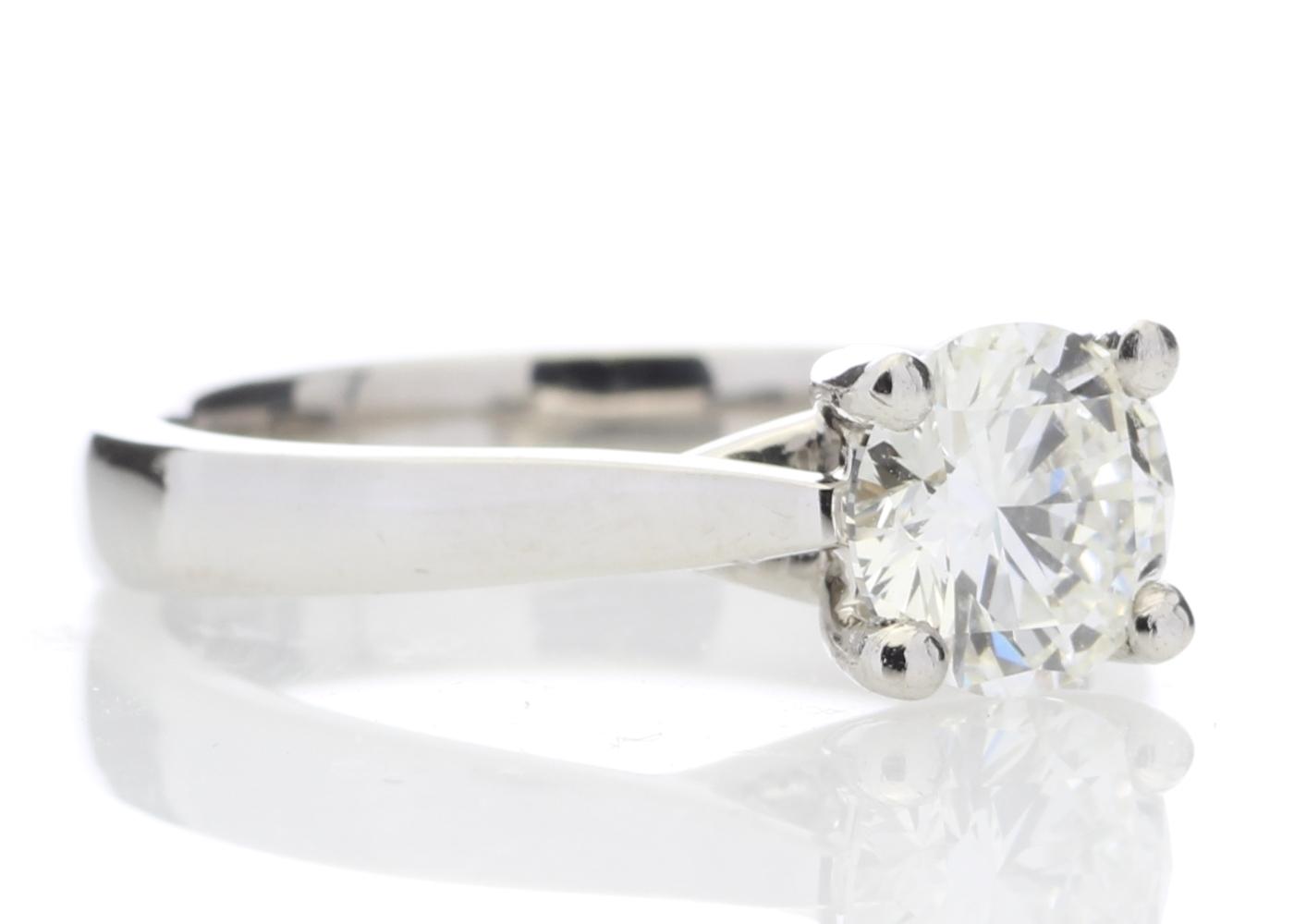 Platinum Single Stone Wire Set Diamond Ring 1.01 Carats - Image 4 of 5