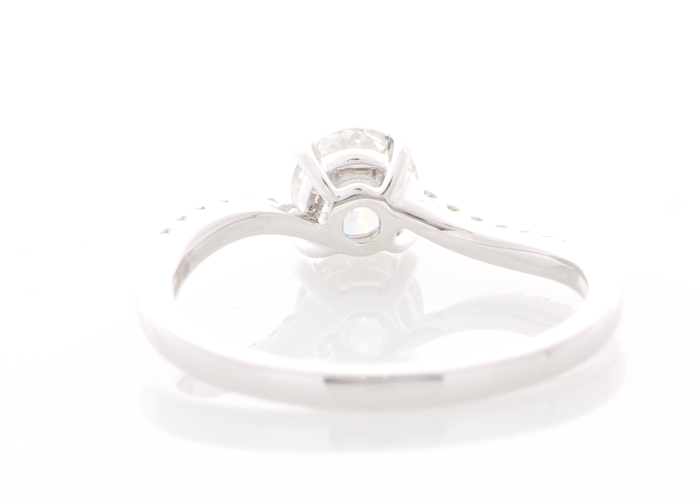 18ct White Gold Prong Set With Stone Set Shoulders Diamond Ring 0.73 Carats - Image 3 of 6