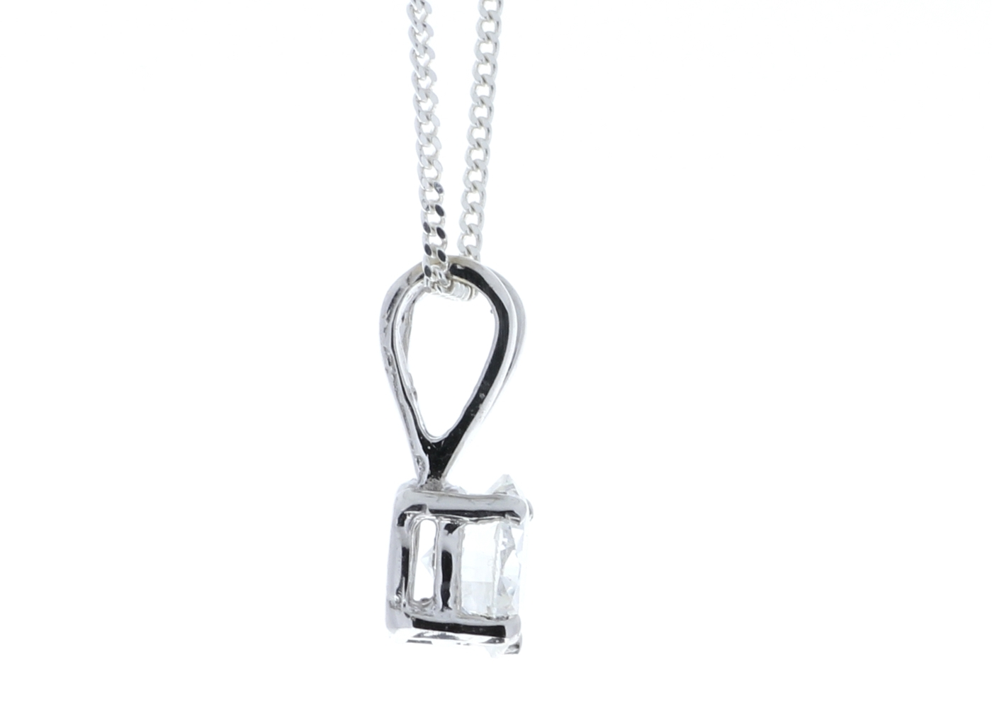 18ct Single Stone Claw Set Diamond Pendant 0.50 Carats - Image 3 of 4