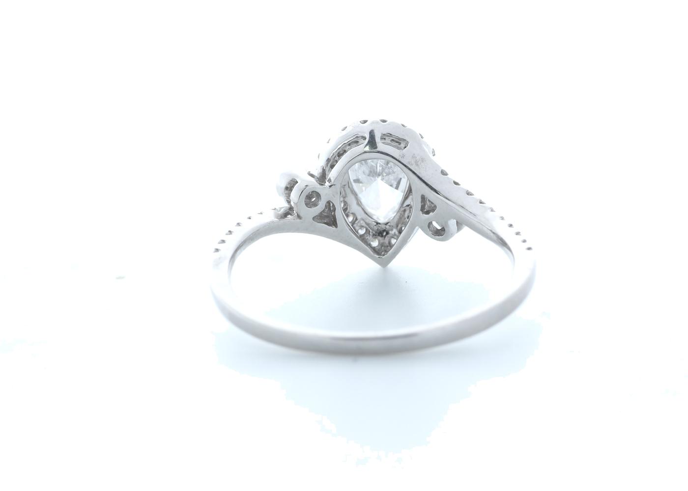 18ct White Gold Pear Shape Halo Diamond Ring 0.76 (0.51) Carats - Image 3 of 5