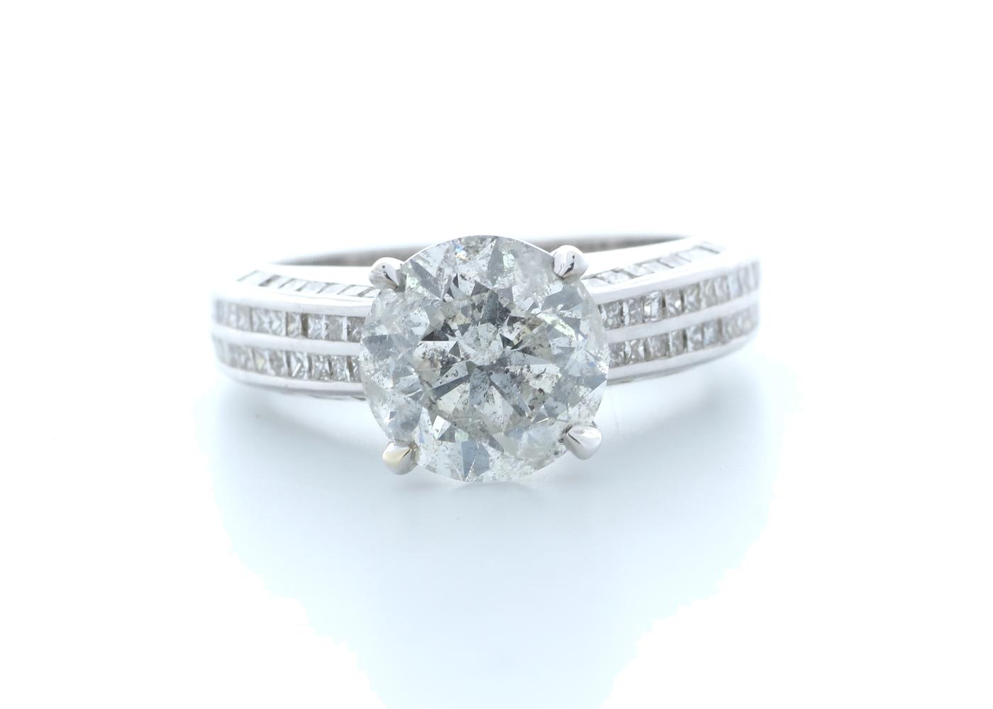 18ct White Gold Diamond Ring 4.51 (3.57) Carats