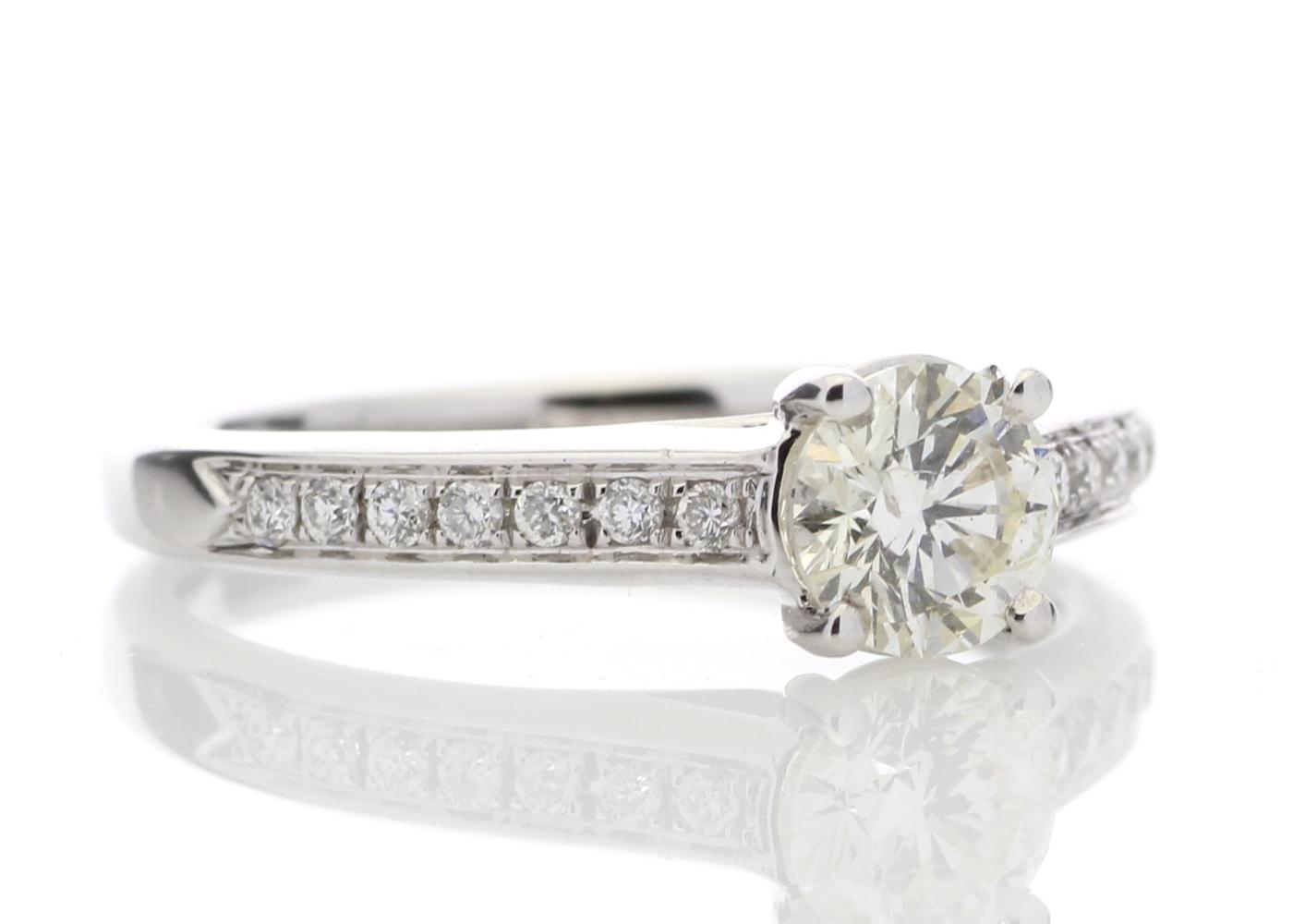 18ct White Gold Single Stone Claw Set Diamond Ring 0.73 Carats - Image 4 of 4