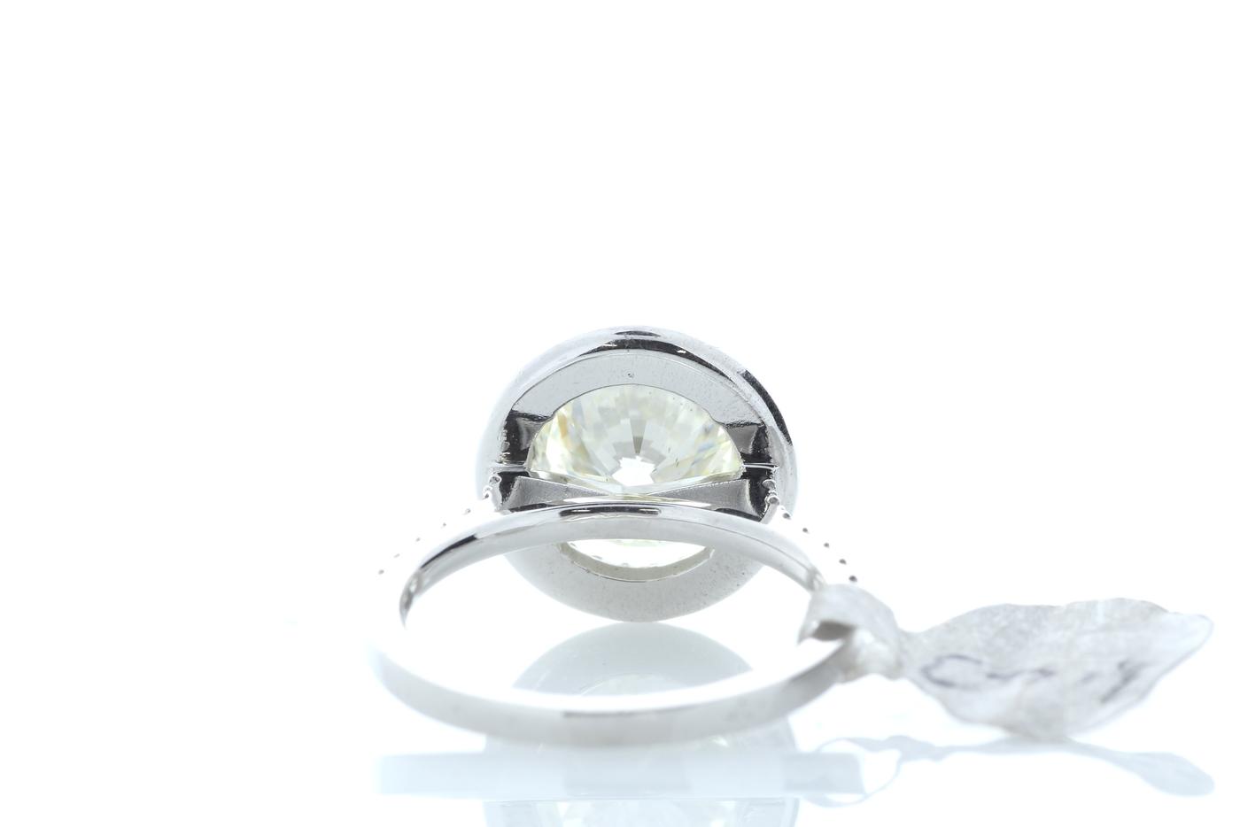 18ct White Gold Halo Set Diamond Ring 3.43 Carats - Image 3 of 5