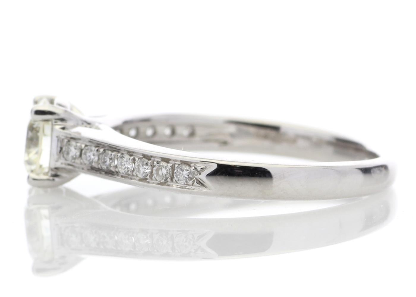 18ct White Gold Single Stone Claw Set Diamond Ring 0.73 Carats - Image 3 of 4