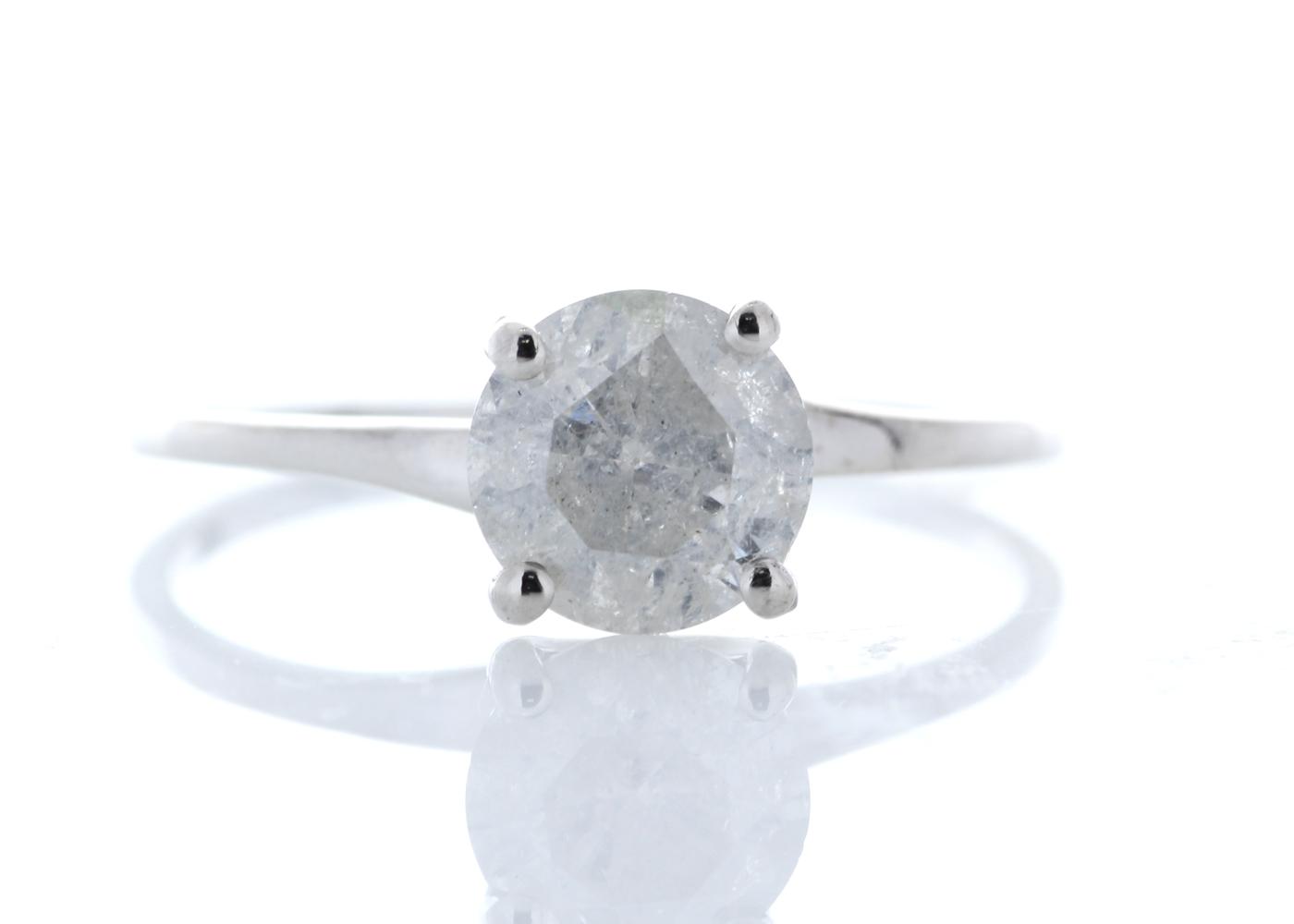 18ct White Gold Single Stone Prong Set Diamond Ring 1.09 Carats