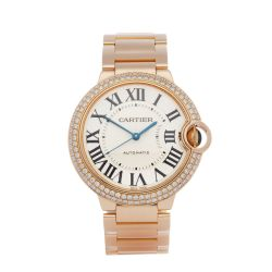 Cartier Ballon Bleu 36 WJBB0005 or 3003 Ladies Rose Gold Diamond Watch