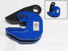 2 pairs x 1 ton horizontal plate lifting clamp 0-30mm swl is when used as a pair (hlc1)