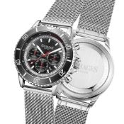 Limited Edition Hand Assembled Gamages Sports Racer Automatic Steel – 5 Yr Warranty & Free Delivery