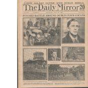 Original 1922 Newspaper Irish The Battle Of Dublin Rare Reports & Images