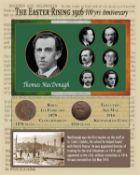 Thomas MacDonagh Easter Rising Original Penny Coin Birth & Death Metal Coin-Set