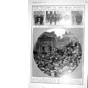 The Funeral Of Liam Mellows, Rory O'Connor 1922 Original Print