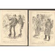 Collection Of 14 Original 1922 Punch Prints Irish Free State