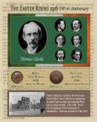 Thomas Clarke Easter Rising Original Penny Coin Birth & Death Metal Coin-Set