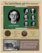 Joseph Plunkett Easter Rising Original Penny Coin Birth & Death Metal Coin-Set