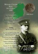 Michael Collins Original 1890 Birth Penny Metal Information Plaque