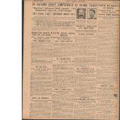 Michael Collins Foils His Train Hold-Up Original 1922 Newspaper