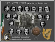 Easter Rising 1916 100th Anniversary Original Penny Metal Information Plaque