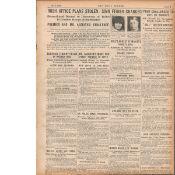 Original Irish War Of Independence Newspaper Reports & Headlines