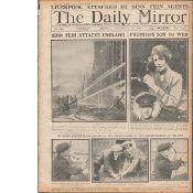 Bloody Sunday 1920 Sinn Fein Attacks Liverpool Original Newspaper