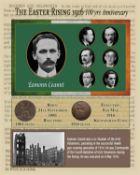 Eamonn Ceannt Easter Rising Original Birth & Death Penny Metal Coin-Set