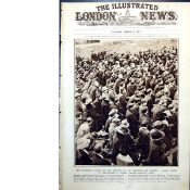 Thousands Gather Outside Mountjoy Prison For Executions Original 1921 Print