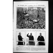 Eamon De Valera Sackville St Speech To A Crowd Of Thousands