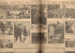 Original 1922 Newspaper The Burial Of Michael Collins Report & Images