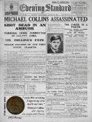 Michael Collins The Civil War Original 1922 Death Penny Metal Plaque
