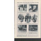 The Captured Four Courts Fierce Dublin Fighting Original 1922 Print