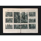 The Civil War Cork & Meath Mounted Original Double-Page 1920