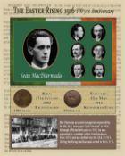 Sean MacDiarmada Easter Rising Original Penny Coin Birth & Death Metal Coin-Set