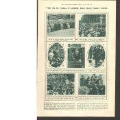 De Valera in London Peace Parley Scenes Original 1921 Print