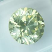 IGI Certified 2.11Cts 100% Natural Y-Z Brownish Yellow Colour Diamond Si2