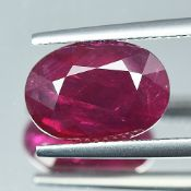 Lotus Certified 5.68Cts 100% Natural Red Colour Mozambique Ruby